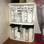 調味料容器は、100均がおすすめ。おしゃれな「SMART POT 800」なら見た目もOK。